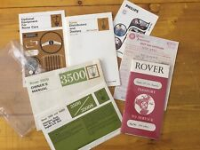 Rover P6 3500 - Literature Pack !