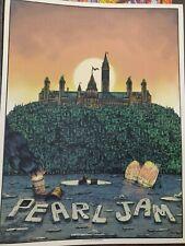 Pearl Jam Poster Ottawa Canada 2020 Art Print Bailey Race Signed A/P Xx/100