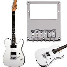 Chrome 6 Square Saddle Guitar Bridge Set For Tele Humbucker Telecaster Guitar