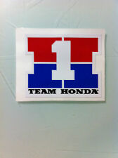 "Team Honda Number One Decal 3.25"" CR ATC CB 125 200 250 750 900 CB CBX Elsinore"