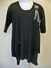 Lee Andersen   Opinion Tunic  NWT   XL   Black    Cotton Gauze