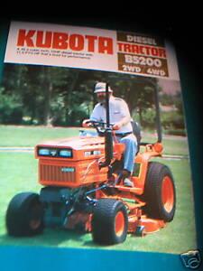 KUBOTA B5200 Diesel  Tractor 2 & 4 WD Color Brochure