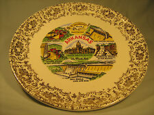 """[Y5] 9"""" Collector Plate Arkansas The Wonder State"""