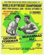 MUHAMMAD ALI VS GEORGE FOREMAN BOXING Poster #001 Choose a Size