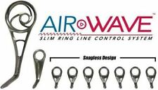 Airwave Spinning Guide Set-American Tackle-Black Chrome-9 Guides W/Matching Tip