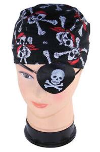Textil Augenklappe mit Totenkopf Pirat Kostüm Spiel