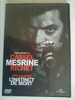 L'INTINCT DE MORT - DVD - Zone 2 - Vincent Cassel, Cécile de France, G.Depardieu
