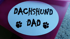 Dachshund Dad Car Sticker, Decal