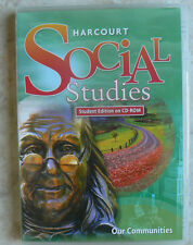 Harcourt Social Studies gr.3/3rd Text on CD-Rom History -Our Communities NEW S/S