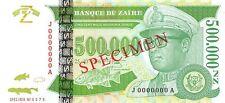 Zaire 500000 Nouveaux Zaires 1996 Specimen Unc pn 78s
