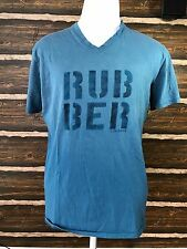 CONVERSE ONE STAR WASHED MEN'S TURQUOISE GRAPHIC CREW-NECK T-SHIRT SIZE LARGE
