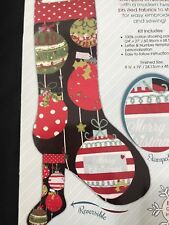 Christmas Stockings Ornaments Embroidery Kit New Needle Creations
