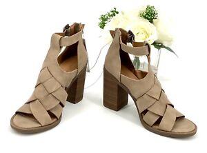 Women's Auburn Gladiator Heeled Sandal Pump Sz 8 Shoe Taupe Universal Thread