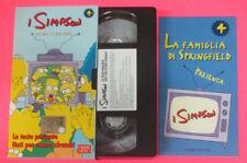 VHS film I SIMPSON 4 PRIMA STAGIONE  La festa parlante Nati per (F107) no dvd