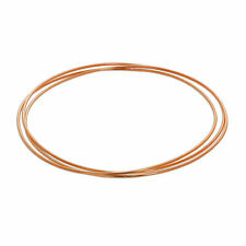 Real 925 Rose Gold Plated Sterling Silver Triple Stacking Bangle Plain