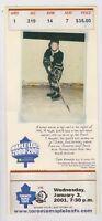 2001 Toronto Maple Leafs Ticket NHL Hockey v Buffalo Sabres Photo Ticket