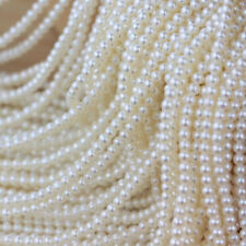 3-4mm Natural White Freshwater Pearl Rondelle Nugget Loose Beads Strand 15'' AAA