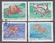 KOREA 1967 used SC#800/03 set, Crabs.