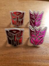 Transformers AUTOBOT DECEPTICON Toy Rings Cupcake Toppers lot 4
