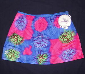 Speedo Swim Skirt Cover Up Multi-color Floral  Youth Girl's Large L NWT $28