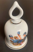 """1979 Norman Rockwell """"Baby-Sitter"""" Limited Edition Porcelain Bell Danbury Mint"""