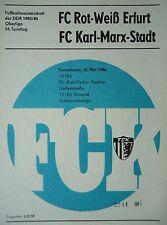 Programm 1985/86 FC Karl Marx Stadt - RW Erfurt