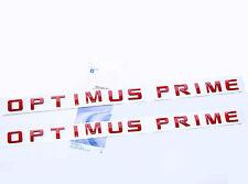 2x Red OEM OPTIMUS PRIME Nameplate Emblem Badge for Silverado Ford Truck c Yu