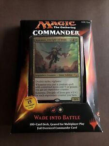 Wade Into Battle MTG Magic The Gathering Sealed New Commander Deck 2015 EDH L@@K