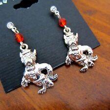new! NC State Wolfpack CRYSTAL EARRINGS North Carolina St football fan jewelry