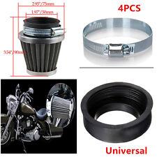 4x 50mm Motorcycle Cafe Racer Air Filters Clean Mushroom Head Cleaner Universal