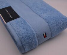 Tommy Hilfiger Bath Towel In Light Blue Cotton New With Tags