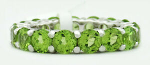 GENUINE 4.32 Cts INFINITY PERIDOT RING .925 Sterling Silver * NWT * Size 10
