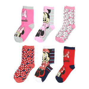 Minnie Mouse Socks for Girls - 6 Pairs
