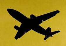 "Vinyl Wall Decal Sticker Airplane Flying 55""x32"" Big"