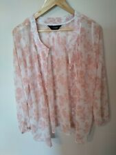 Ladies blouse Patterned Size 16 from Yours Peachy/Pink