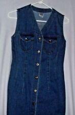 BIG TIME Vintage long denim jean sleeveless dress,  Women's Size M