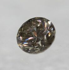 Cert 0.47Ct Light Brown SI2 Round Brilliant Natural Loose Diamond 4.83mm EX #63