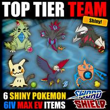Pokemon und Schwert Schild ⚔ Full Battle Ready Team 🛡 6iv glänzend-Tyranitar +