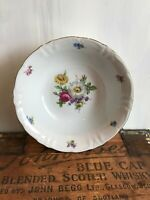 Winterling Fine China Flower Garden Gold Trim Bavaria Germany Serving Bowl 9.5""