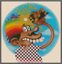 Grateful Dead Europe 72 Counted Cross Stitch COMPLETE KIT #23-123