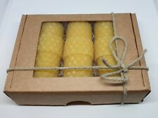 Gift Set of three Hand Rolling Beeswax Candles
