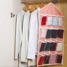 16 Pockets Clear Over Closet Door Hanging Bag Shoe Rack Hanger Storage Organizer