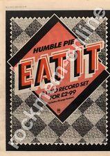Humble Pie Eat It A&M Records MM3 LP advert 1973