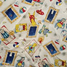 Cat Pool Kitten Summer Scrub Top  Size Medium Women Scrub Factory Beach Boat