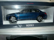 Norev 183470, Mercedes-Benz C-Klasse Limousine, 2014, blau metallic, 1/18