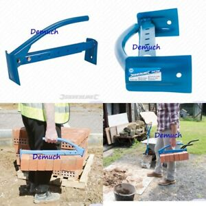 """New Silverline 16""""/40CM ADJUSTABLE BRICK TONGS Clamp Carrier Lifter 6-10 Bricks"""