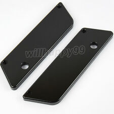 Black Saddlebag Metal Latch Covers for Harley Touring Electra Glide 1993-2013