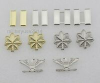 U.S. US ARMY OFFICER'S RANK INSIGNIA PIN BADGE COLLAR PIN full size-6 pairs