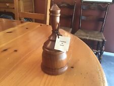Vintage 1995 Jim Griffin Woodcarving Cherry Wood Music Box Bell