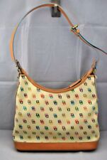 """NEW!!! 1100% Authentic Dooney & Bourke Shoulder Bag - White with """"DB"""" Print"""